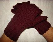 Men gloves- hand knitted, warm, natural wool