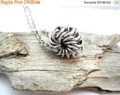 SPRING SALE Whirly Bird Chainmaille Necklace - Chain Maille Pendant with Chain