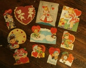 Lot  of 11 Vintage 1950s Valentines Day Card Scrapbooking Creative Crafting