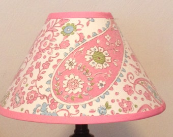 Brooklyn Pink  Fabric Lamp Shade M2M Pottery Barn Kids Bedding