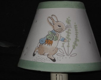 Beatrix Potter Peter Rabbit Fabric Night Light M2M Pottery Barn Kids Bedding