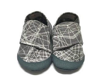 UPGRADE- Reinforced Rubberized Toes for 6-12 M, Durable Baby Shoes, Toddler Booties, Rubber Soles, Baby Shoes
