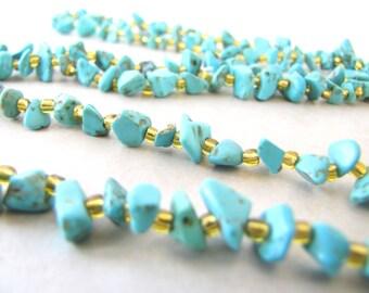 Turquoise Nekclace, Gemstone Necklace, Stone Necklace, Boho, Bohemian, Crystal, Santa Fe, American Indian