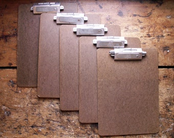 Vintage National Fiberboard Office Clipboards