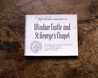 Vintage Souvenir Travel Snapshot Booklet from Windsor Castle and St. George's Chapel, Windsor, England