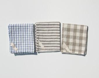 Set of 3 Linen Dish Towels