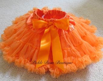 Orange Tutu, Halloween Tutu, 9-24 mo, Girls 1st Halloween Outfit, 1st Halloween, Pumpkin Tutu, Toddler Infant Baby, Halloween Pettiskirt