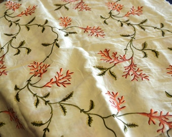 coral tree emboidered fabric piece by colefax and fowler