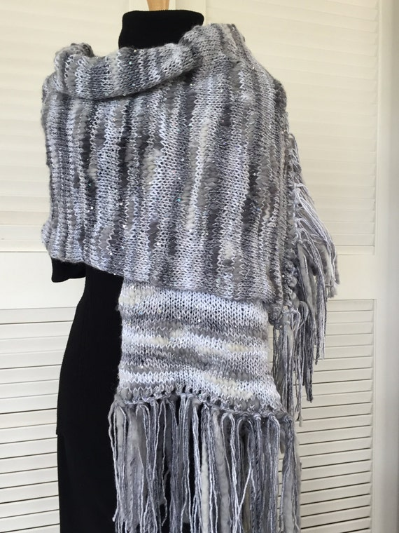 Silver and cream sparkle wrap