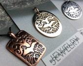 Pendant UP Upper Peninsula Tree of Life Copper Bronze Silver