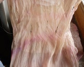 SOLD to Nancy en France - Rose Pink - Coffee Dyed - Chiffon Silk Georgette - Hand dyed Silk - and Inspiration for a New Season