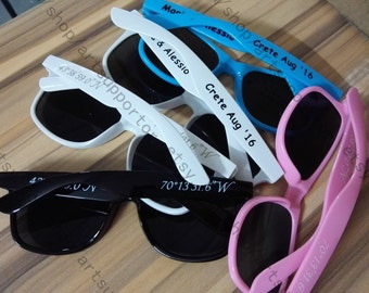 15+ color printing wedding sunglasses personalised bacheloratte gifts stag gifts hen gifts party mementos