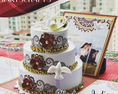 Modern Indian Pop-Up Invitations with 3-Tier Cake, Wedding, Quinceanera, Sweet Sixteen
