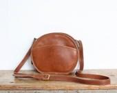 Vintage Coach Bag // Chester Bag in British Tan // Canteen Bag Round Purse