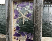 Lavender beach glass with star fish
