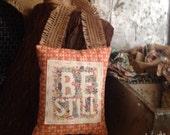 Door Pillow, Handmade, Door Reminders, Gift, Teacher Gift, Scripture Art - Be Still
