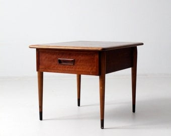 mid-century Lane Acclaim commode table, end table with drawer