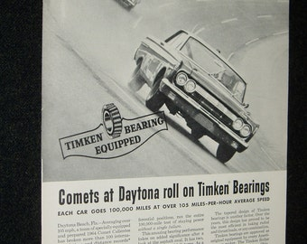 Front/Back Ads, 1964 Comet-Timken Bearings, Middle South Utilities