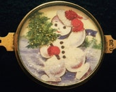 Vintage Handcrafted Snowman Bracelet Piece