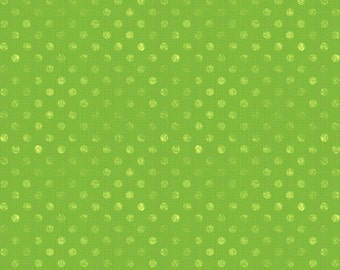 Wilmington Prints. Essentials Dotsy. Lime Green - Cotton Fabric - By the Yard - Choose your cut