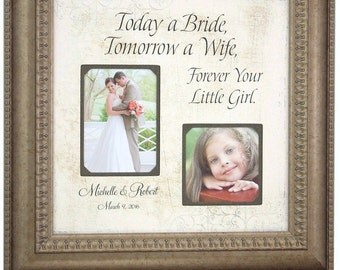 Wedding Gift for Parents, Personalized Wedding Frame, Mother of the Bride, Father of the Bride, Parents Wedding Gift, 16 X 16