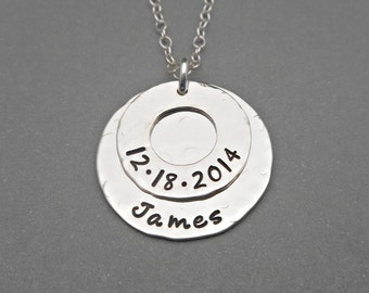 Hand Stamped Mommy Necklace - Personalized Jewelry - Sterling Silver - Mommy Jewelry - Hand Stamped Jewelry - Grandma Necklace - Mother