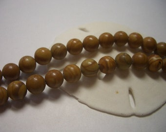 Gold Lace Agate beads, 6mm beads, natural gemstone beads, 6mm round beads, beige, brown, tan, natural Agate beads, golden, marbled beads