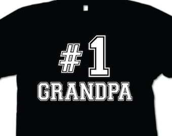 Number 1 Grandpa T-Shirt Father's Day Gift Funny Mens shirt Gift for Papa papaw Grandfather Shirt
