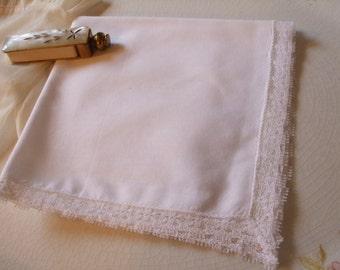 Handkerchief Lace Hanky Bridal Wedding June Bride White