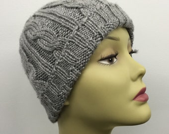 Cable Knit Hat_Gray