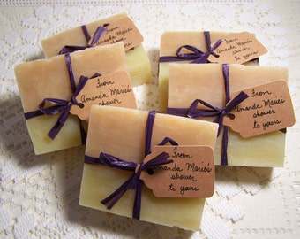 wedding favors,  bridal shower favors, destination weddings, organic soaps, set of 30 at 115.00