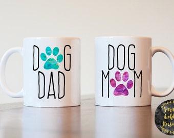 Dog Mom Dog Dad Mug, Dog Dad and Dog Mom Mugs, Dog Parent Mugs, Couples Gift, Couples Mugs, Dog Mom Mug, Dog Dad Mug