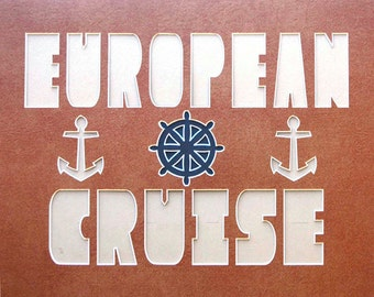 EUROPEAN CRUISE 16x20 Name Frame Photo Mat river cruise