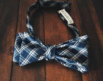 Bow Tie || Blue Plaid