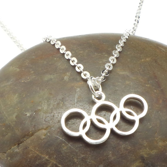 olympic rings necklace pendant silver 2016 by yhtanaff