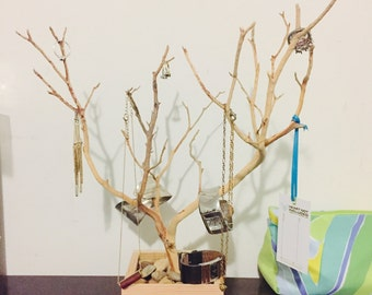 "15"" Natural Jewelry Tree Accessory holder / Jewelry Organizer"