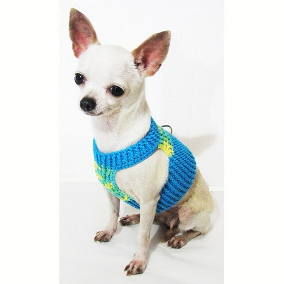 Choke Free Soft Dog Harness Cotton Handmade Crochet Pet