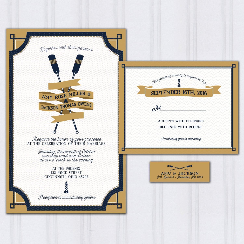 Marine Wedding Invitations: Nautical Wedding Invitations Yacht Club Invitation Marine