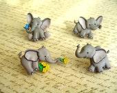 Elephant Animal Thumbtack,Eelephant Push Pin, Animal Notice Board Pins, Zoo Animal, Baby Elephants
