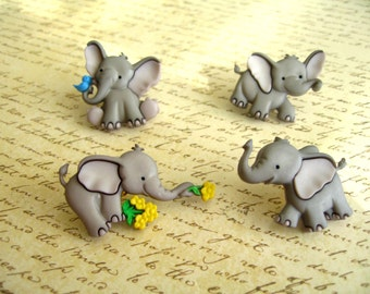 Elephant Animal Thumbtack,Eelephant Push Pin, Animal Notice Board Pins, Zoo Animal, Baby Elephants