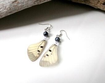 Apollo Butterfly Earrings, Small Butterfly, Ivory Wings, Nature Earrings