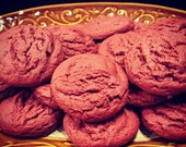 Vegan Red Velvet Cookies - 1 dozen, vegan cookies, Red Velvet Cookies