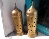 vintage brass Moroccan lantern, candle holder, only 1 available