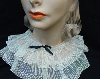 Vintage Collar Accessory Embroidered Net Ruffles Sweet Nostalgia