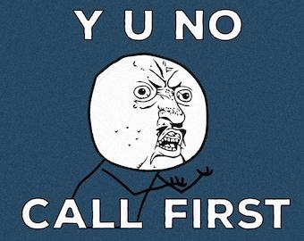 "Customizable Y U NO Meme Doormat, 36"" x 24"""