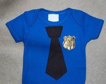 Police Baby One Piece Bodysuit