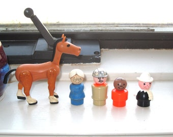 Vintage Fisher Price Little People and Donkey