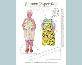 Autumn Paper Doll