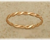 Braid Toe Ring - Sized Fitted Toe Rings Midi Rings Pinky Rings - 14K Gold Filled Sterling Silver