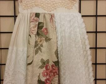 Vintage Linen Dress    size 2/3